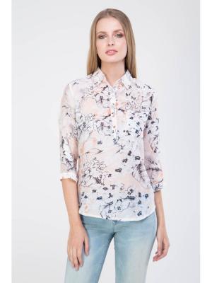 Блузка MARIMAY. Цвет: персиковый