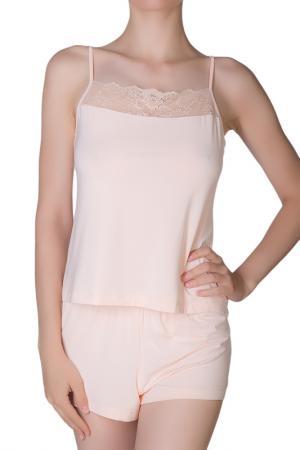 Шорты домашние Rose&Petal Homewear. Цвет: бледно-персиковый