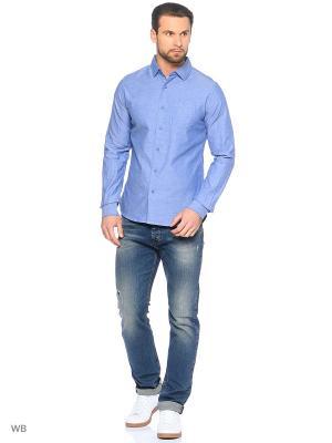 Рубашка Censured. Цвет: голубой
