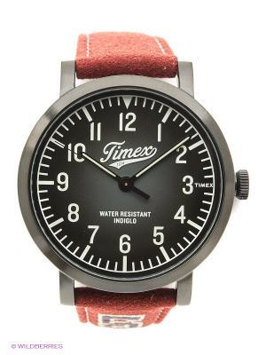 Часы TIMEX. Цвет: красный, черный