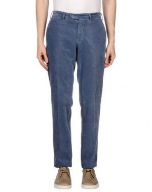 Повседневные брюки LUIGI BIANCHI Mantova. Цвет: пастельно-синий
