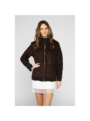Куртка Sirenia. Цвет: темно-коричневый