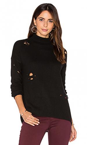 Рваный свитер Autumn Cashmere. Цвет: черный