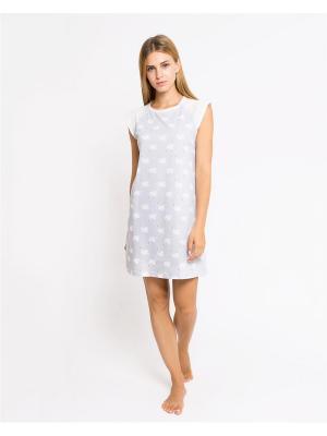 Ночная сорочка Mark Formelle. Цвет: серый, белый