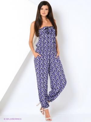 Комбинезон МадаМ Т. Цвет: фиолетовый, серый
