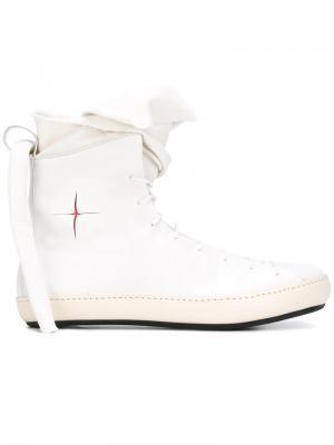 Ботинки на шнуровке Ma+. Цвет: белый