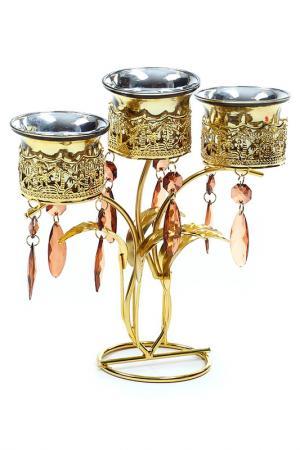 Подсвечник на 3 свечи, 17 см Davana. Цвет: золотой