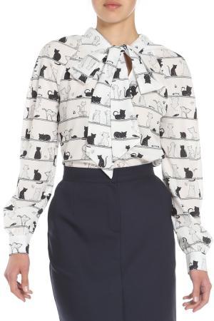 Блузка Ketroy. Цвет: белый, кошки
