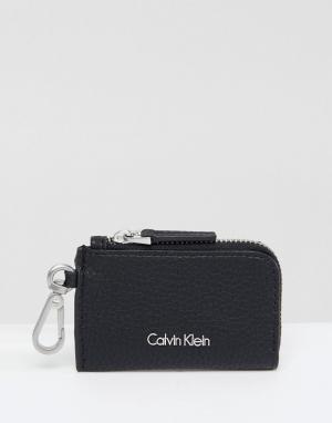 Calvin Klein Кошелек для мелочи на молнии. Цвет: черный