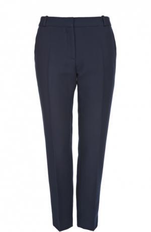 Прямые брюки со стрелками Sandro. Цвет: темно-синий