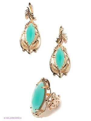 Комплект Lovely Jewelry. Цвет: золотистый, бирюзовый