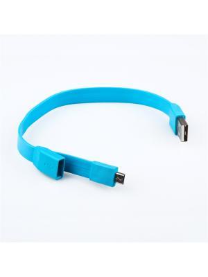 Usb кабель Pro Legend Micro браслет, 25см., голубой. Цвет: голубой