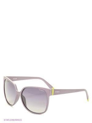 Солнцезащитные очки Polaroid. Цвет: фиолетовый, зеленый, серый