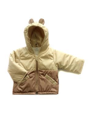 Куртка Микки Дашенька. Цвет: бежевый, коричневый
