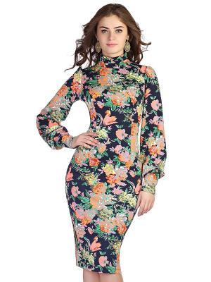 Платье OLIVEGREY. Цвет: темно-синий, оранжевый, розовый