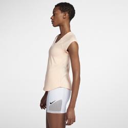 Женская теннисная футболка Court Pure Nike. Цвет: кремовый