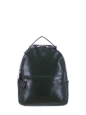 Рюкзак натуральная кожа Sara. Цвет: зеленый