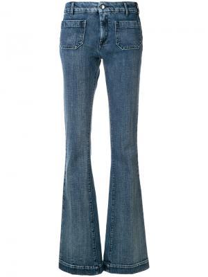 Расклешенные джинсы со  вставками The Seafarer. Цвет: синий
