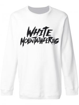 Топ с логотипом White Mountaineering. Цвет: белый