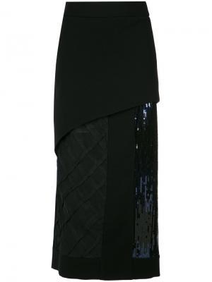 Sequin midi skirt Giuliana Romanno. Цвет: чёрный