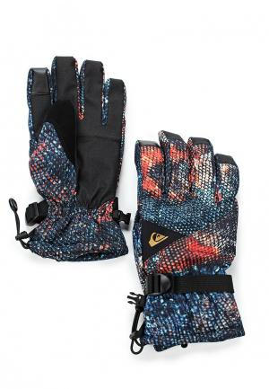Перчатки горнолыжные Quiksilver. Цвет: синий