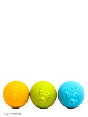 Игрушка развивающая - шарики Sophie la girafe. Цвет: салатовый, оранжевый, бирюзовый