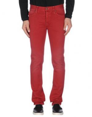 Повседневные брюки IT'S MET. Цвет: красный
