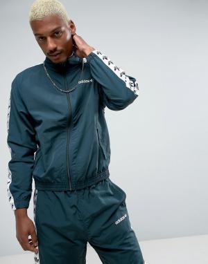 Adidas Originals Спортивная куртка Adicolor TNT BK3632. Цвет: зеленый