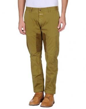 Повседневные брюки CLOSED. Цвет: зеленый-милитари