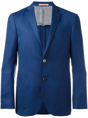 Two button blazer Corneliani. Цвет: синий