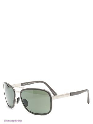 Солнцезащитные очки Porsche Design. Цвет: серый, темно-зеленый