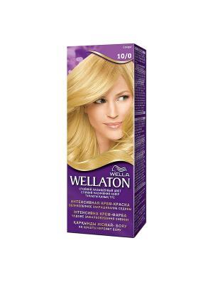 Крем-краска для волос стойкая 10/0 Сахара WELLATON. Цвет: фиолетовый