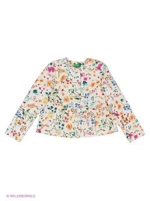 Куртка United Colors of Benetton. Цвет: бежевый