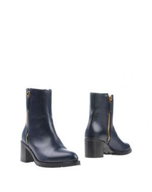 Полусапоги и высокие ботинки ZAMAGNI. Цвет: темно-синий