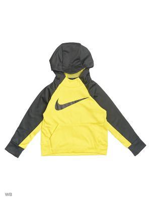 Худи B NK THRMA HOODIE PO Nike. Цвет: желтый
