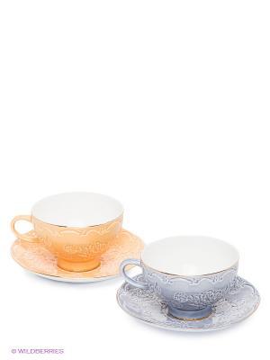 Чайный набор Белла Мария Pavone. Цвет: светло-желтый, сиреневый