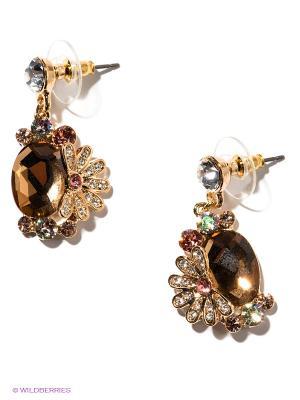 Серьги Lovely Jewelry. Цвет: золотистый, бежевый