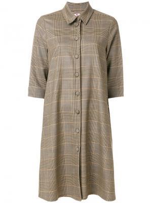 Классическое платье-рубашка Ultràchic. Цвет: коричневый