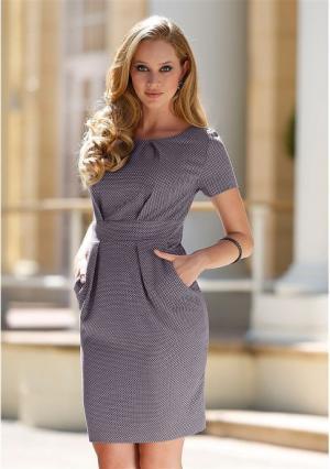 Платье MY STYLE. Цвет: светло-серый/темно-серый