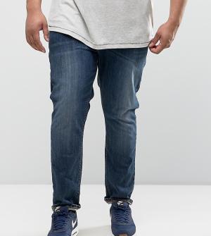 ASOS Темные джинсы скинни PLUS. Цвет: синий