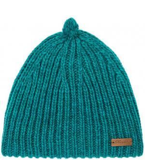 Бирюзовая шапка крупной вязки Noryalli. Цвет: бирюзовый