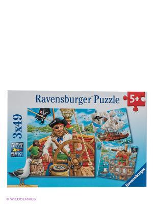 Паззл Приключения пиратов Ravensburger. Цвет: голубой