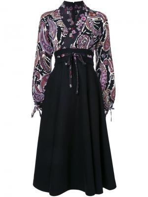 Платье-кимоно с принтом пейсли G.V.G.V.. Цвет: чёрный