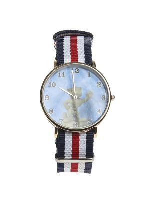 Часы Migura. Цвет: красный, золотистый, белый, синий