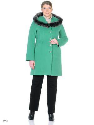 Пальто зимнее Лаура с песцом XP-GROUP. Цвет: салатовый