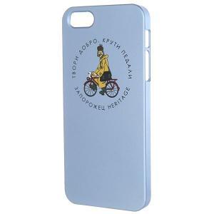 Чехол для iPhone  Простоквашино Печкин 5 Голубой Запорожец. Цвет: голубой