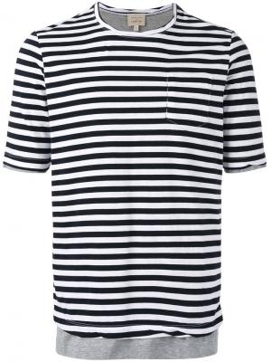 Striped T-shirt Wooster + Lardini. Цвет: белый