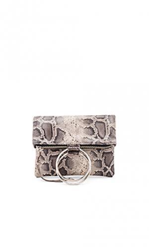 Сумка с серебряным кольцом laine Oliveve. Цвет: серый