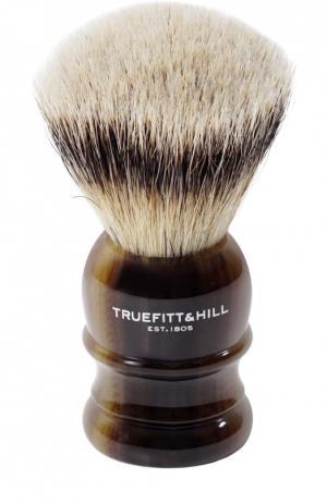 Помазок Шерсть барсука/Рог с серебром Wellington Truefitt&Hill. Цвет: бесцветный