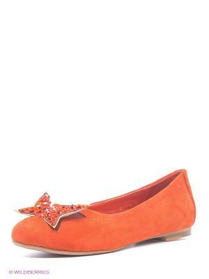 Балетки Eva Mayer. Цвет: оранжевый